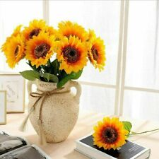5PCS Heads Artificial Sunflowers Fake Flower Floral Bouquet Home Garden Wedding
