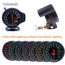 New 5'' Stepper Car RPM 11000K Tachometer Gauge w/7Color Backlight Warning Light