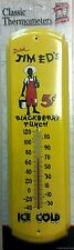 Jim Ed's Blackberry Punch-ice Cold,Soda,Drink,Metal Thermometer,Sealed->Free 2US