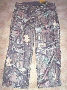 Mens 2X Camo Pants Mossy Oak Camo Pants Scent Control Hunting Pants Windproof