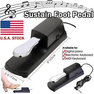 Damper Sustain Foot Pedal for Electric Digital Piano MIDI Keyboard Yamaha Casio