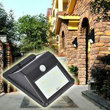 LED Solar Power PIR Motion Sensor Waterproof Wall Light Garden Security Lamp