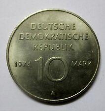 DDR conmemorativa 10 mark sello brillo de 1974-1949-1974 todo con el pueblo-todo