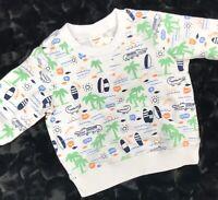 Gymboree Shirt Baby Boys Size 0-3 Months Surf, Alligator, Palm Trees NWT