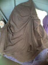 Nadia Ivanova Stunning Couture Flamenco 100% Wool Skirt UK 12 Chocolate Brown