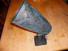 VINTAGE FLOOD SPOT LIGHT LAMP INDUSTRIAL CAST ALUMINUM ADJUSTABLE BRASS ARM