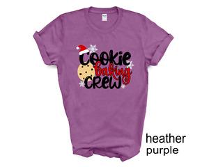 Cookie Baking Crew Christmas tshirt, Baking lovers t shirt, Matching Christmas