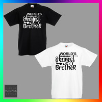 03fbe79a Worlds Okayest Brother TShirt T-Shirt Tee Kids Unisex Childrens Funny Cute  Bro