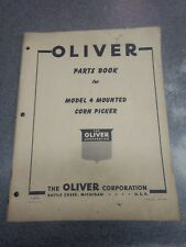 Oliver Model 4 Mounted Corn Picker Parts Manual S49m7