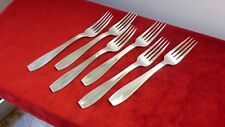 CHRISTOFLE. 6 fourchettes de table 20,5 cm. Modèle ATLAS.  Table forks
