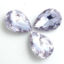 20pcs Faceted Crystal Glass rhinestones Silver Teardrop beads 7x10mm
