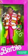 1990 Mattel 9407 Barbie® United Colors Of Benetton™Christie Doll Sealed Rare