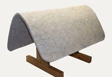 Filzunterlage für Westernsättel aus echtem Wollfilz Padschoner beige