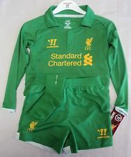 LIVERPOOL HOME GOALKEEPERS MINI KIT BY WARRIOR SIZE 18-24 MONTHS BRAND NEW