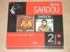 COFFRET 2 CD MICHEL SARDOU / JE NE SUIS PAS MORT, JE DORS + ROUGE / TRES B ETAT