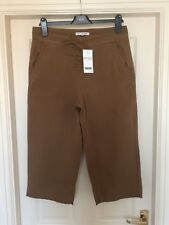 BNWT NEXT STUNNING BROWN CROP TROUSERS SZ 14 PETITE  NEW RRP £36  CROPPED