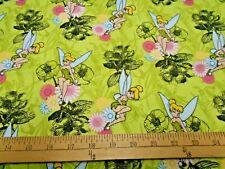 1 yard Disney Tinkerbell Mystic Forest FLANNEL Fabric