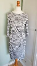 French Connection Silver Dress Size UK 14 Faux Wrap Skirt Party Occasion Wedding