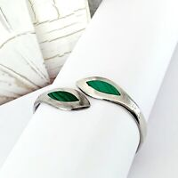 TAXCO Mexico Sterling Silver 925 Hinged Stack Stacking Clamp Bangle Bracelet