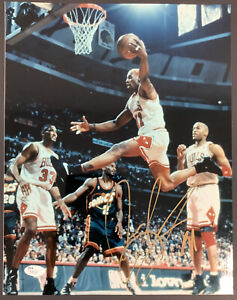 Dennis Rodman Signed Photo 11x14 Chicago Bulls Autograph Pippen Jordan JSA COA