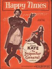 1949 Danny Kaye Film (The Inspector General) Sheet Music ( Happy Times )