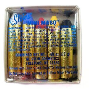 """Vintage Steins """"Mini Masq"""" 5 Color Sticks Makeup Face Paint Original Package"""
