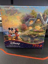 Disney Thomas Kinkade Mickey and Minnie Mouse 750 Piece Jigsaw Puzzle Brand New