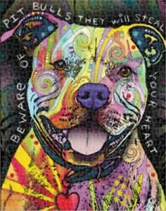 Dean Russo 500pc Pet Pit Bull Dog Lovers Gift Jigsaw Puzzle