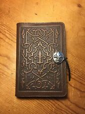 Oberon Medici Fleur de Lis Leather Journal Blank Book Brown 5x7 Handcrafted NEW
