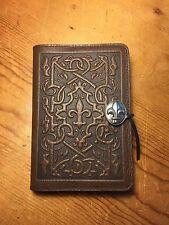 Oberon Medici Fleur de Lis Leather Journal Blank Book Brown 5x7 Handcrafted NEW