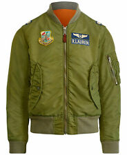 Polo Ralph Lauren MA-1 Military US Air Force Bomber Pilot Jacket Small NEW