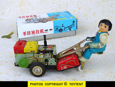 Girl on Tractor China farm toy with box and key ... SEE MOVIE