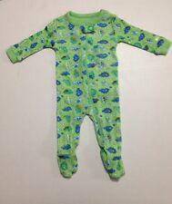 The Children's Place Baby Boys' 100% Cotton Sleeper- Green Dino (0-3 Months)