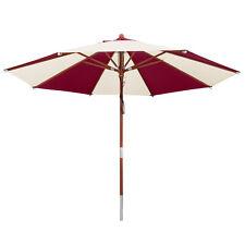 anndora Sonnenschirm 3,5 m rund natural/burgundy - UV Schutz + Winddach
