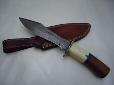 """Pioneer Damascus Steel Hunting Knife With Guard 11.5""""Pt-613"""
