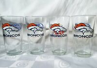 Budweiser Bud Light Denver Broncos Logo Pint Beer Glasses 16 oz. Set of 4