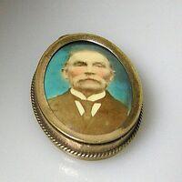 20er Jahre Medaillon goldfarben Messing  ca.4 x 2,5 cm