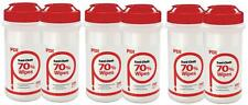 6 X SANI CLOTH 70 ALCHOL DISINFECTANT WIPES TUB 200 - MEDICAL GRADE FREE POST