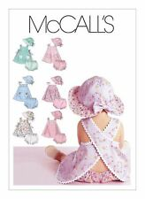 McCall' sewing Pattern M6303 SZ S-XL  Babies X Over Back Dress Top Panties Hat
