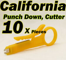 10 X Punch Down Cutter Cable UTP Stripper Tools LAN RJ45 Network CAT5 CAT6 RJ11