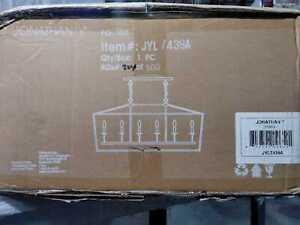 "Pagoda 49"" Linear 6-Bulb Lantern Metal LED Pendant, ORB by JONATHAN Y"