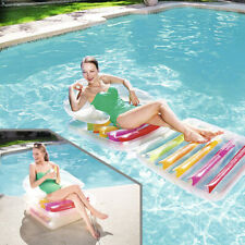 """Bestway Folding Lilo  79"""" x 35"""" Lounger Beach Swimming Pool Inflatable Float"""