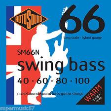 Rotosound SM66N Swing Bass Guitar Set Nickel Roundwound 40-100 Gauge Long Scale