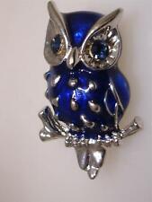 Vintage Cobalt Rhinestone Brooch Blue Rhinestone Pins VA-303