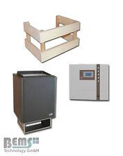 EOS Thermat Saunaofen 4,5 KW bis 9 KW+ Saunasteuerung EOS D1 + Ofenschutzgitter