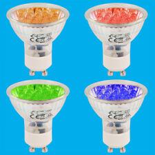 2x 1.3W+ 21 LED GU10 Coloured Spot Light Bulbs Blue Orange Red Green Down Lamps