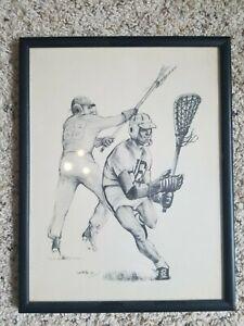 Rare, Authentic, Vintage Native American OREN LYONS Lacrosse Prints (1960's)