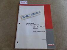 """CASE 930B Rear Mount Mower 48"""", 60"""" & 72"""" Models Operator's Manual 86620798"""