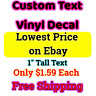 Custom Personalized Vinyl Decal Lettering Window Car Wall Name Sticker