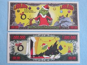 DR. SEUSS How the GRINCH Stole Christmas ~*~ Cool $1,000,000 One Million Dollars